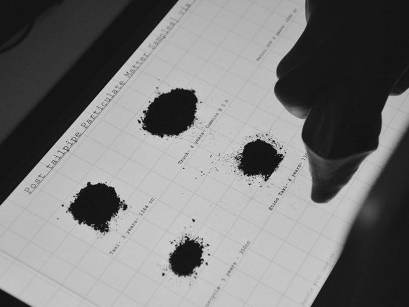 Air-ink: una tinta hecha con aire contaminado 11