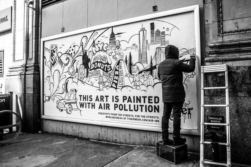Air-ink: una tinta hecha con aire contaminado 9