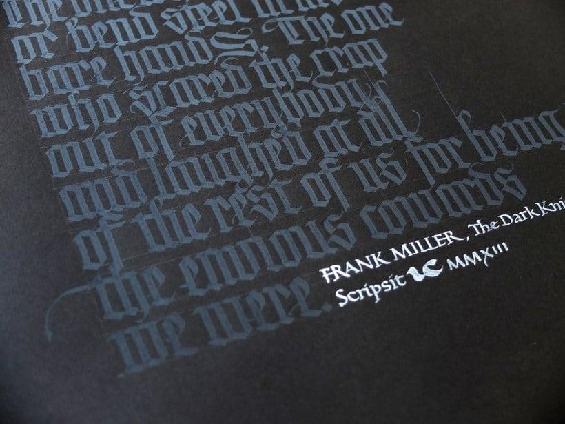 Los materiales favoritos de Iván Castro para hacer caligrafía 7