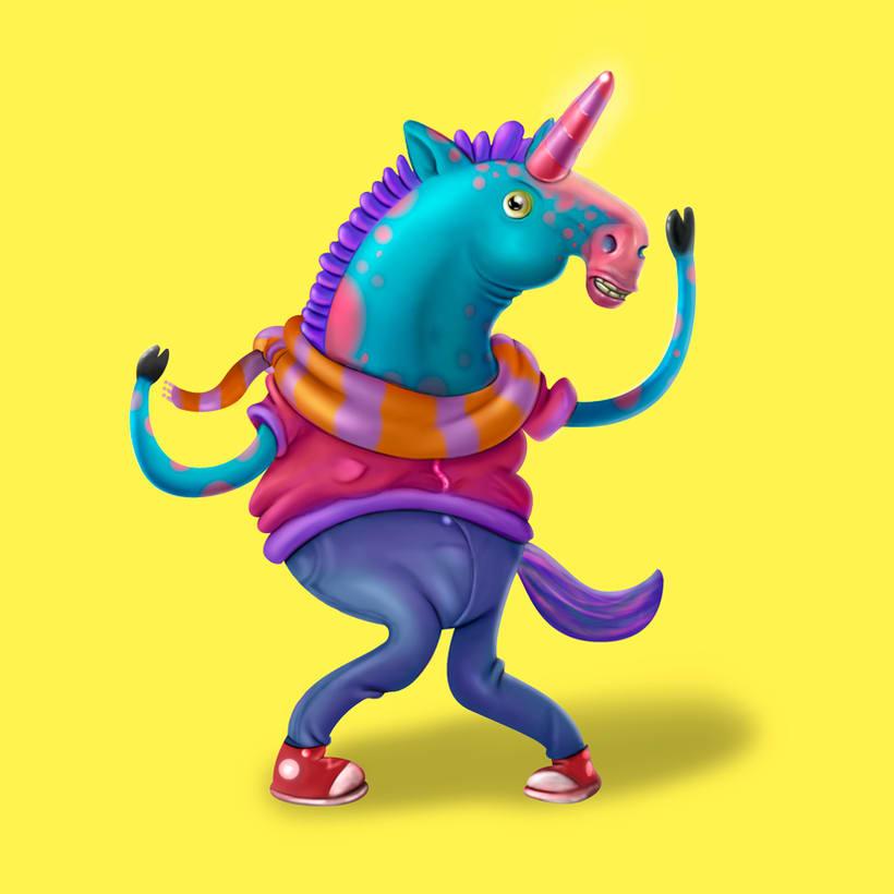 Steve el Unicornio infeliz (Diseño de personaje) 0