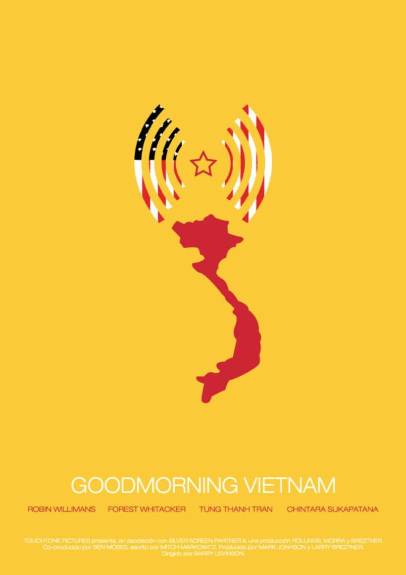 Rediseño póster Goodmorning Vietnam 0
