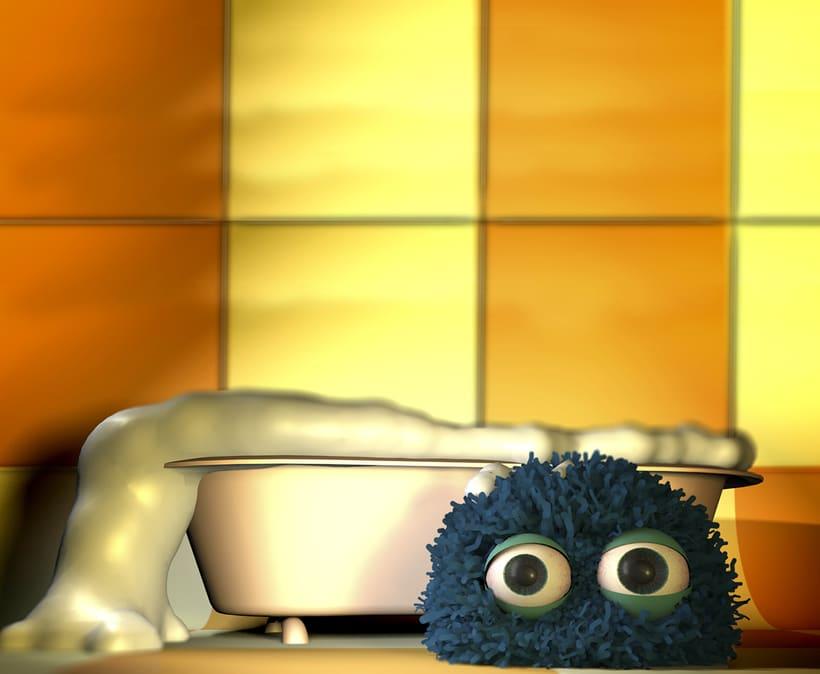 Mi primera mascota 3D, decorando mi cuarto de baño ;) -1