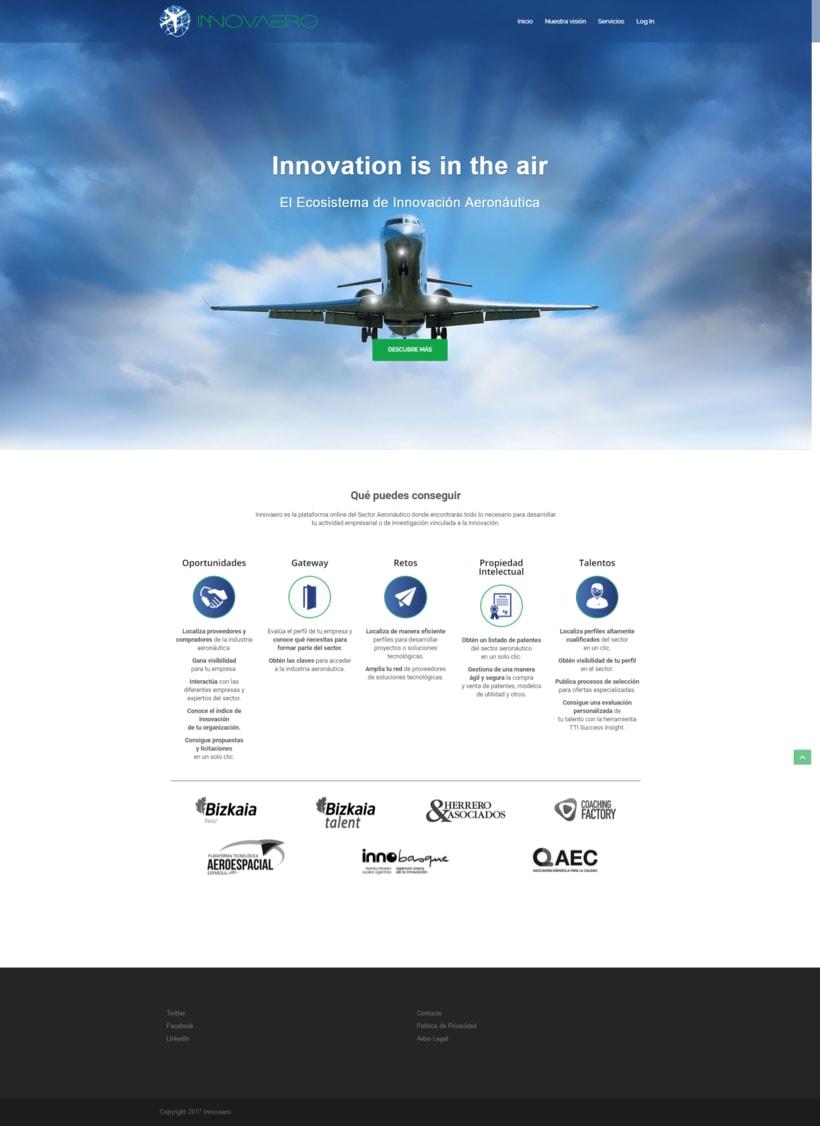 Diseño web lógico y visual: Innovaero.com 0