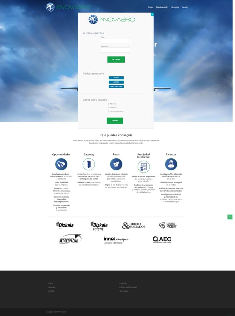 Diseño web lógico y visual: Innovaero.com 1