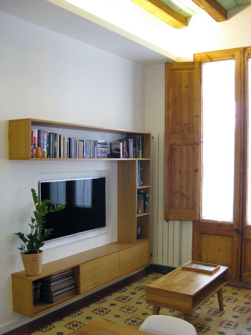Rehabilitación de vivienda y diseño de mobiliario en Sants (2012) 2