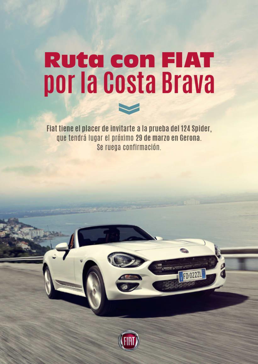 Creatividad invitación FIAT 124 3