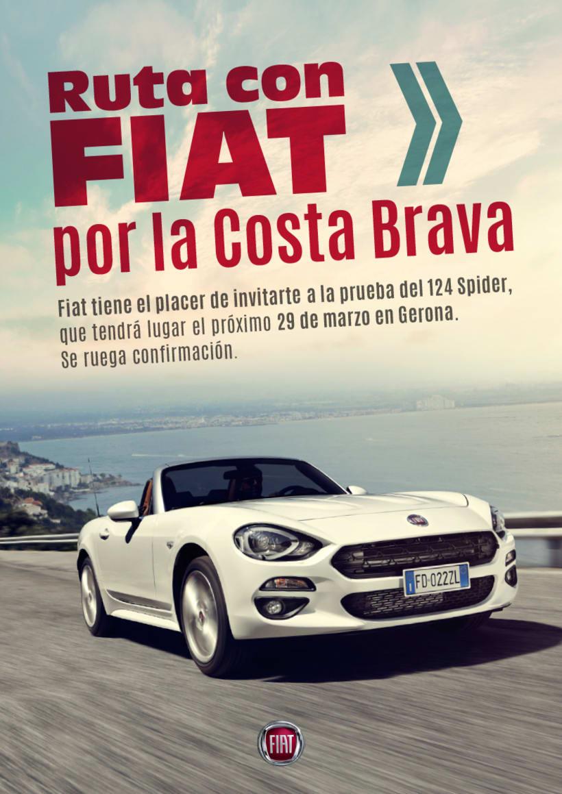 Creatividad invitación FIAT 124 0