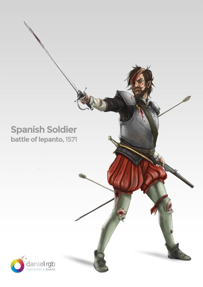 Spanish Soldier - Battle of Lepanto - 1571. -1