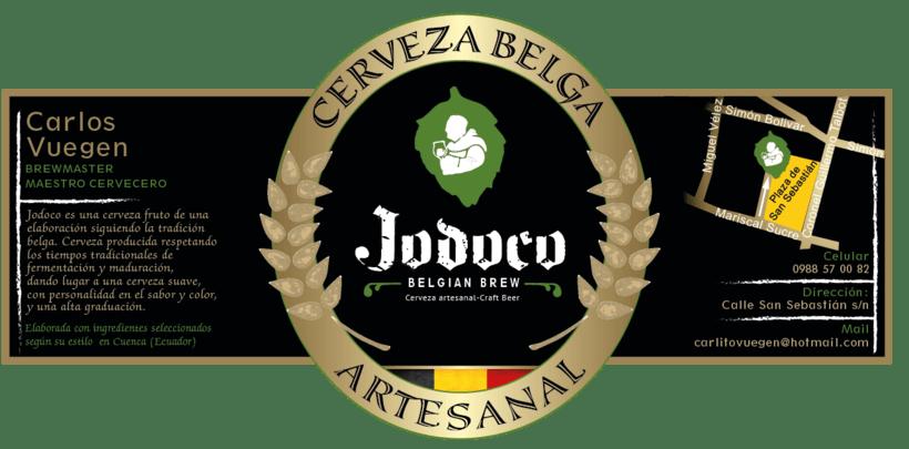 Etiqueta de la Cerveza belga artesanal Jodoco -1