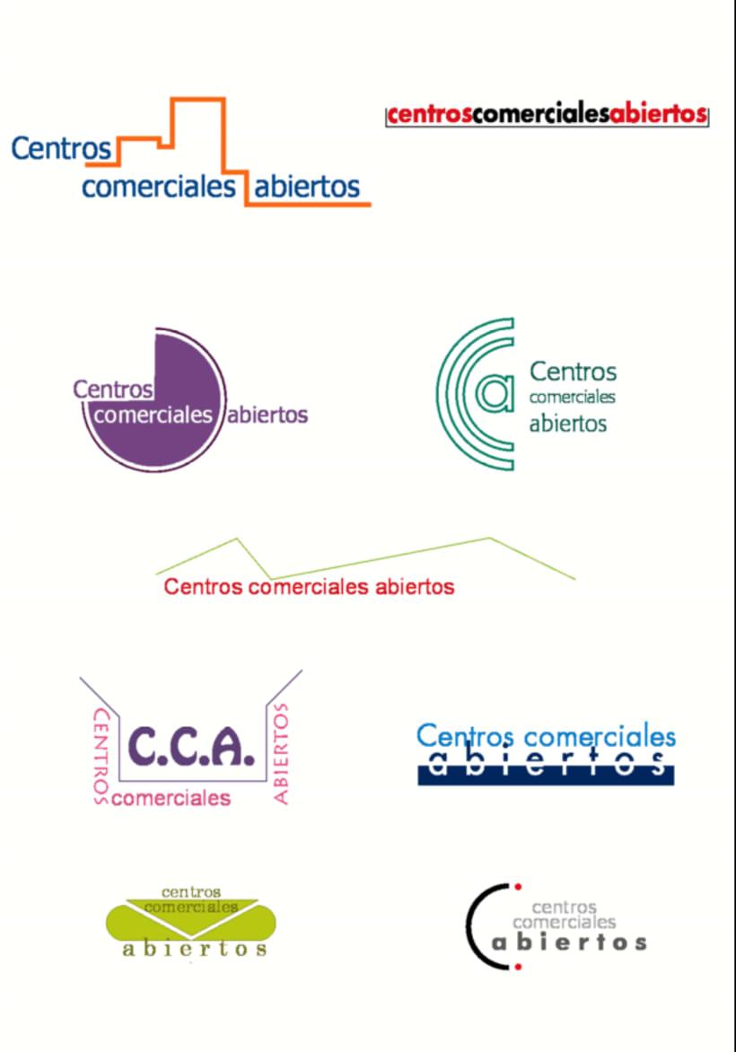 Bocetos para el logo de Centros Comerciales Abiertos de San Blas Madrid -1