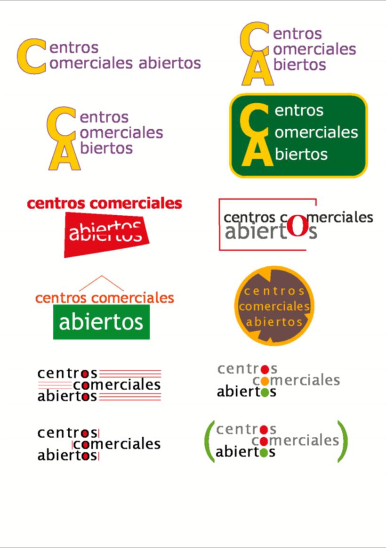 Bocetos para el logo de Centros Comerciales Abiertos de San Blas Madrid 0
