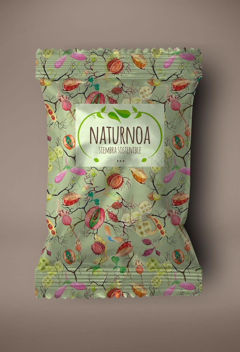 Mi Proyecto del curso: Motivos para repetir. Packaging para Naturnoa (siembra sostenible) 0