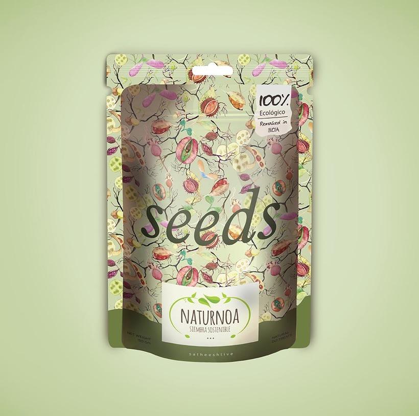 Mi Proyecto del curso: Motivos para repetir. Packaging para Naturnoa (siembra sostenible) 1