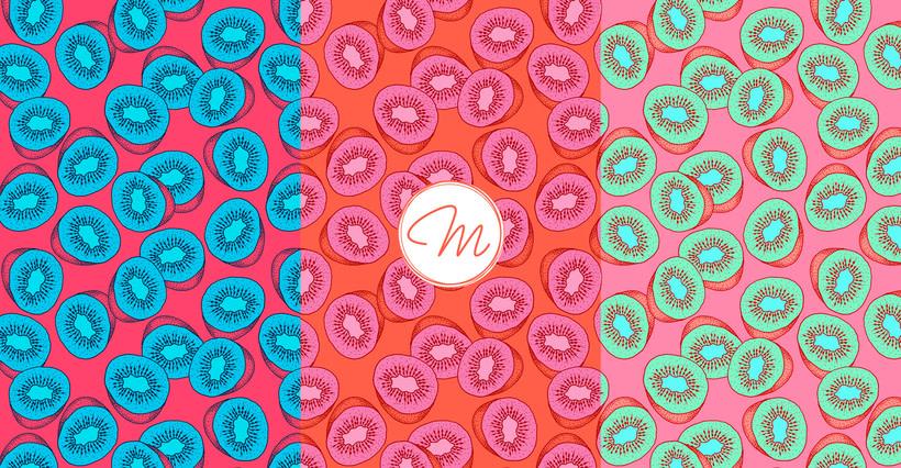 Sweet Kiwi Pattern Collection 0