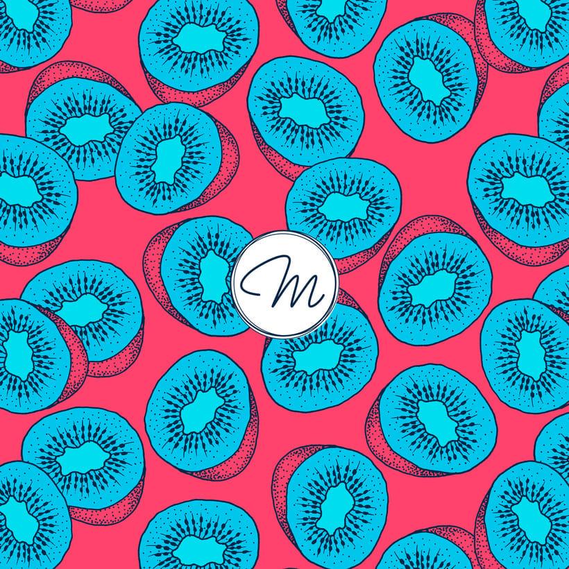 Sweet Kiwi Pattern Collection 1