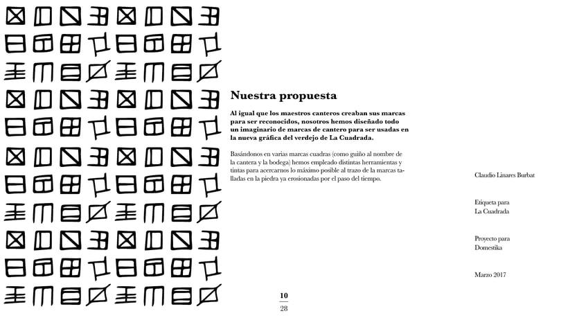 Diseño de una etiqueta de vino: La Cuadrada. 8