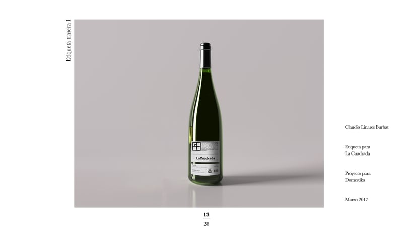 Diseño de una etiqueta de vino: La Cuadrada. 11