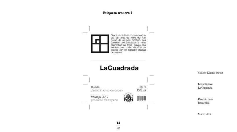 Diseño de una etiqueta de vino: La Cuadrada. 13