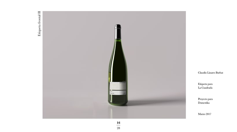 Diseño de una etiqueta de vino: La Cuadrada. 14