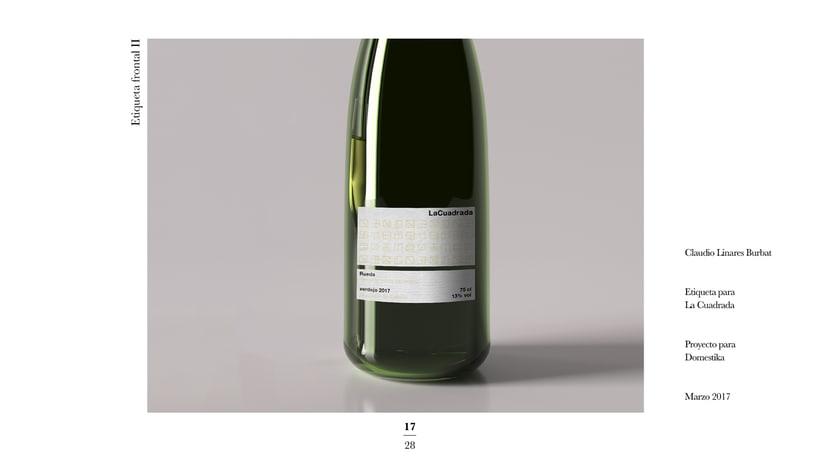 Diseño de una etiqueta de vino: La Cuadrada. 15
