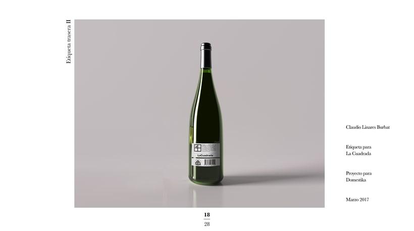 Diseño de una etiqueta de vino: La Cuadrada. 16