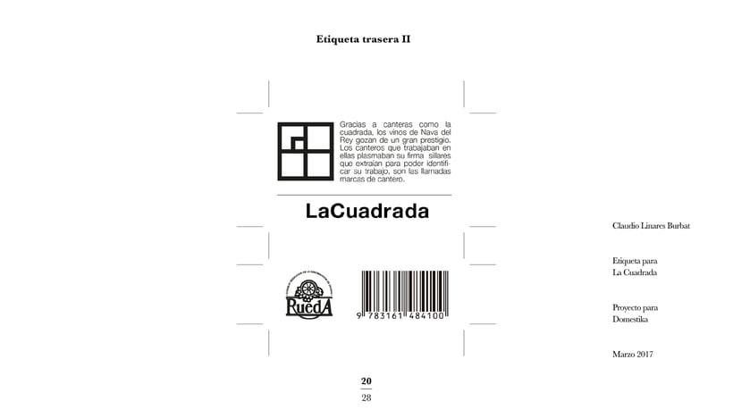 Diseño de una etiqueta de vino: La Cuadrada. 18