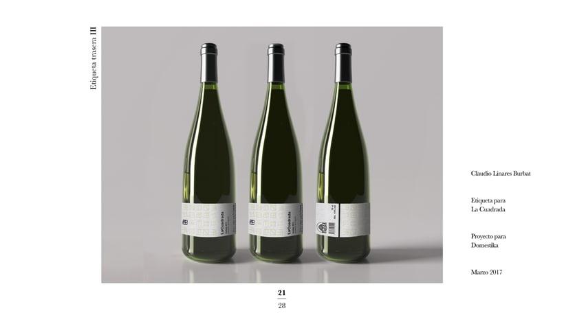 Diseño de una etiqueta de vino: La Cuadrada. 19