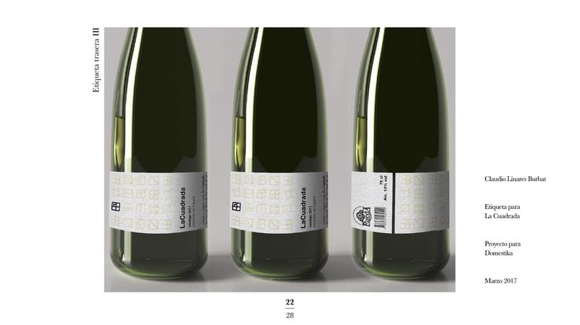 Diseño de una etiqueta de vino: La Cuadrada. 20