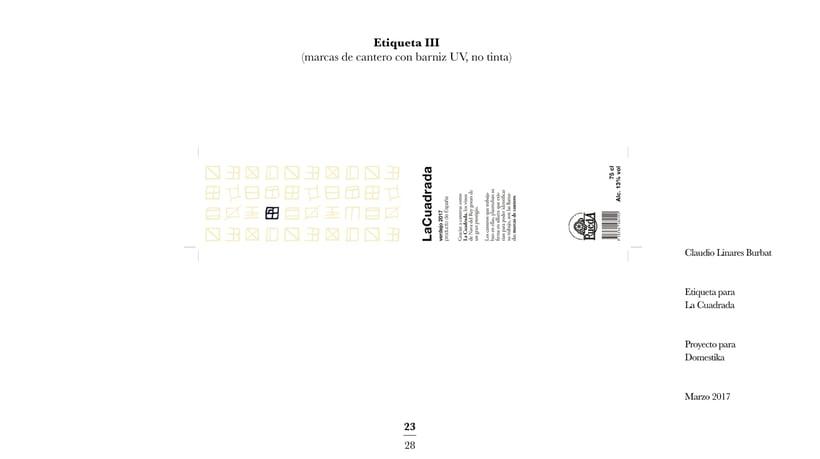 Diseño de una etiqueta de vino: La Cuadrada. 21