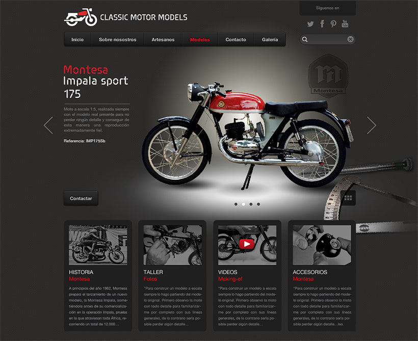 CMM. Branding and website for motorcycles scale models 7