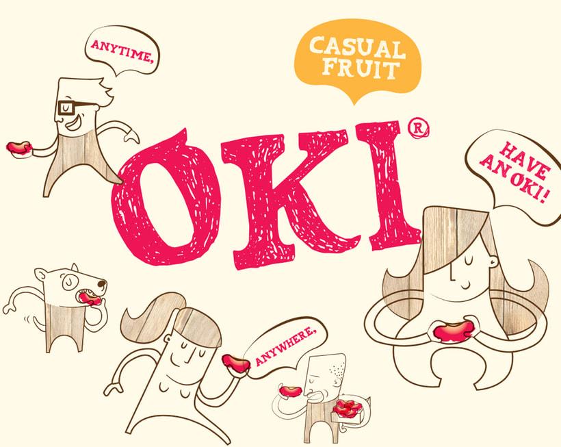 OKI. Brand, advertising, packaging and website for fruit brand 0