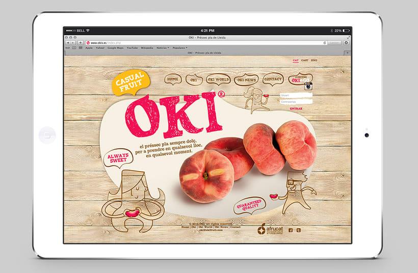 OKI. Brand, advertising, packaging and website for fruit brand 1