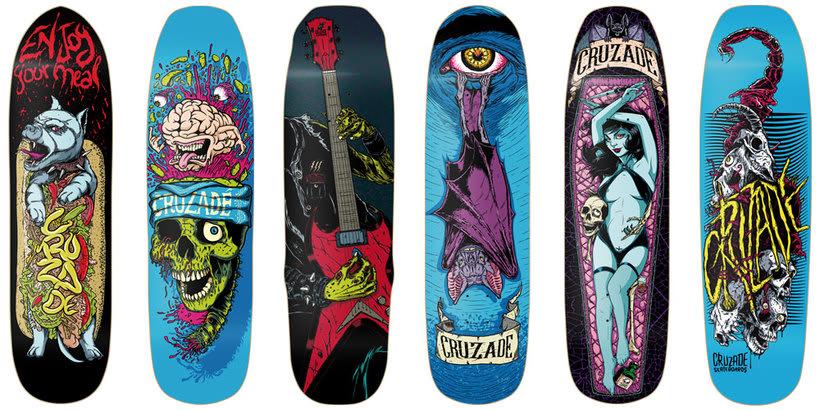 Cruzade Skateboards - 2017 Colection 1