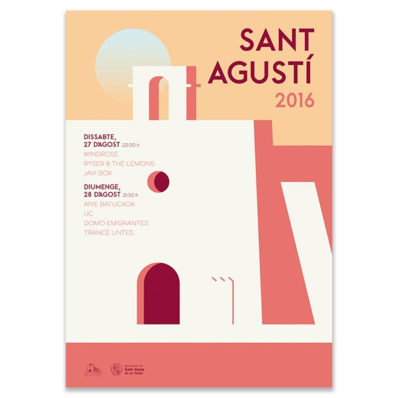 Carteles Fiestas Sant Agusí. 1