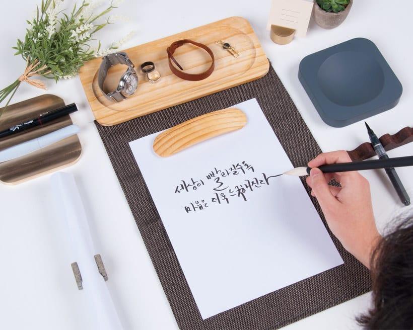 Un kit de caligrafía inspirado en los jardines coreanos 5