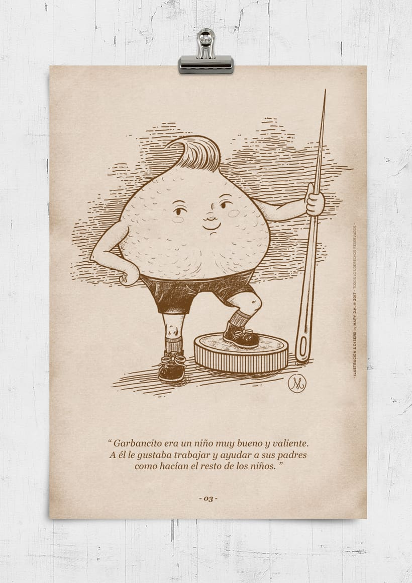 """""""GARBANCITO"""" · Classic Tale Illustration · 0"""
