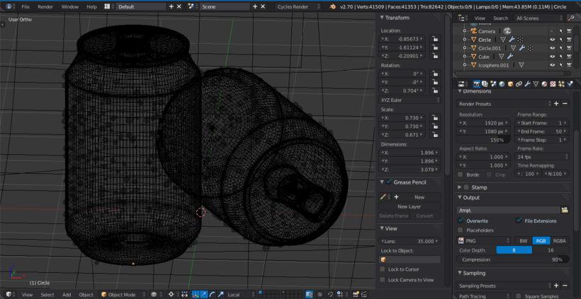 Latas de Refresco 3D 1