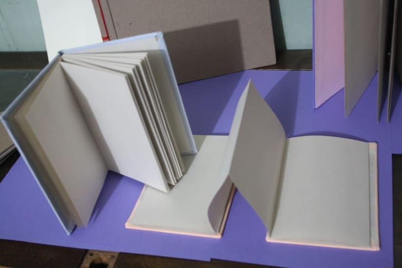 Libretas, color y algo mas. Mi Proyecto del curso: Técnicas de Encuadernación DIY -1
