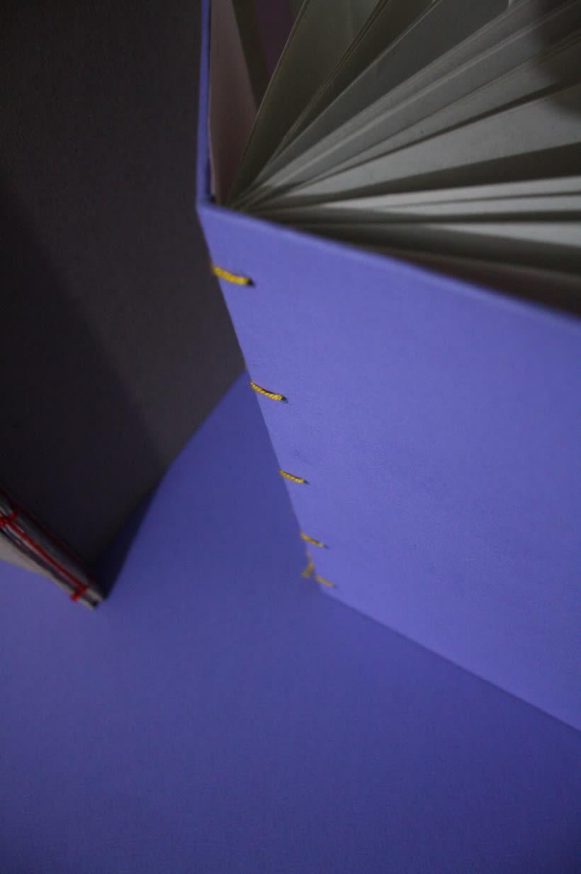 Libretas, color y algo mas. Mi Proyecto del curso: Técnicas de Encuadernación DIY 1