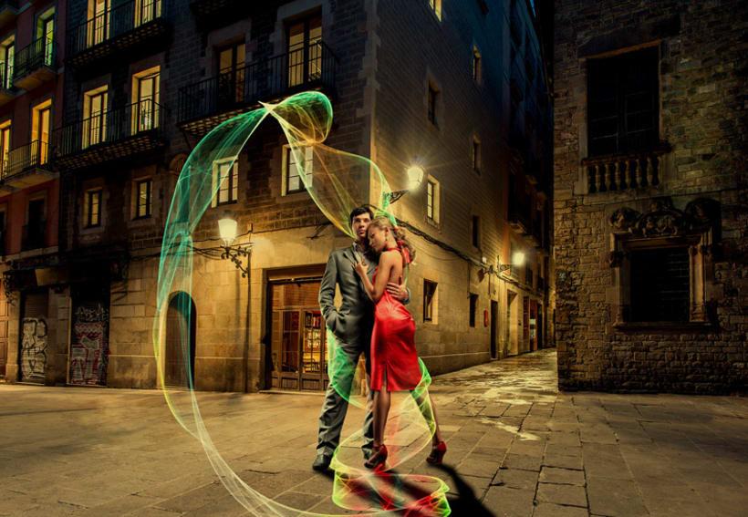 """Fotocomposición """"Pareja de baile"""" -1"""