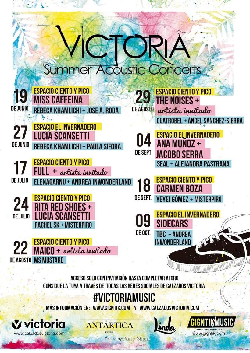 Cartel y customización Victoria Summer Acoustic Concerts 6