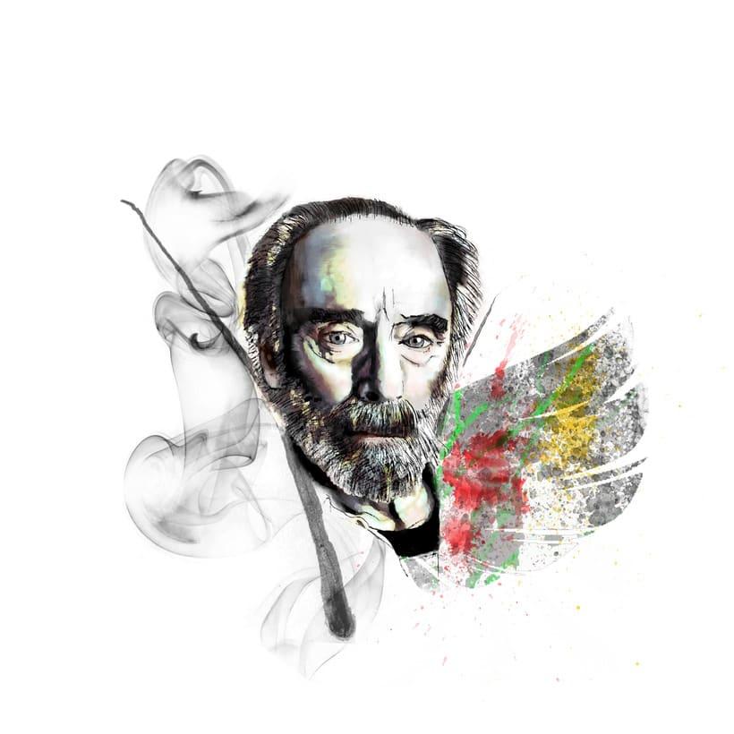 Mi Proyecto del curso: Retrato ilustrado con Photoshop. Javier Krahe -1