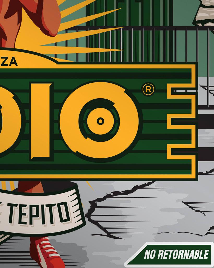 Etiqueta Indio Barrios - Tepito 3