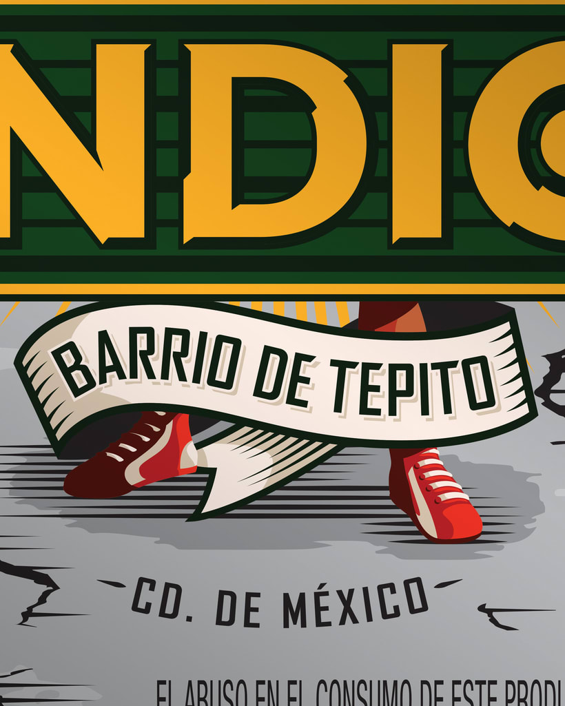 Etiqueta Indio Barrios - Tepito 4