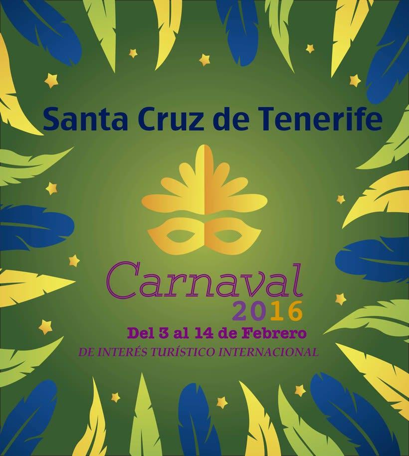 Cartel para el carnaval de Santa Cruz de Tenerife 2016 -1