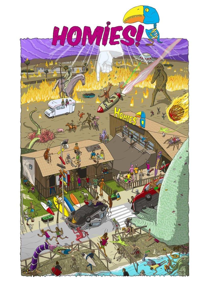 Ilustraciones para Homies 3