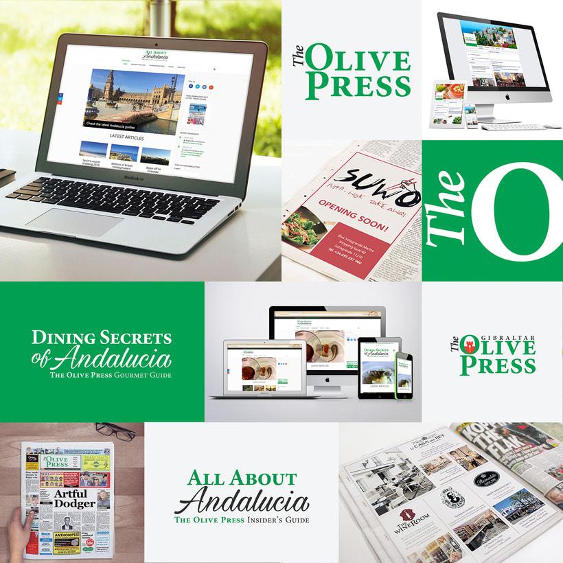 Identidad Corporativa The Olive Press Newspaper/ Marbella 0