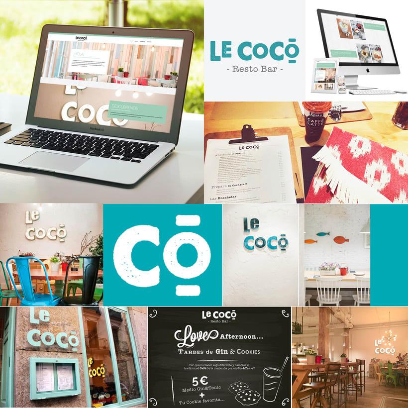 Identidad Corporativa Le Coco Resto Bar/ Madrid 0