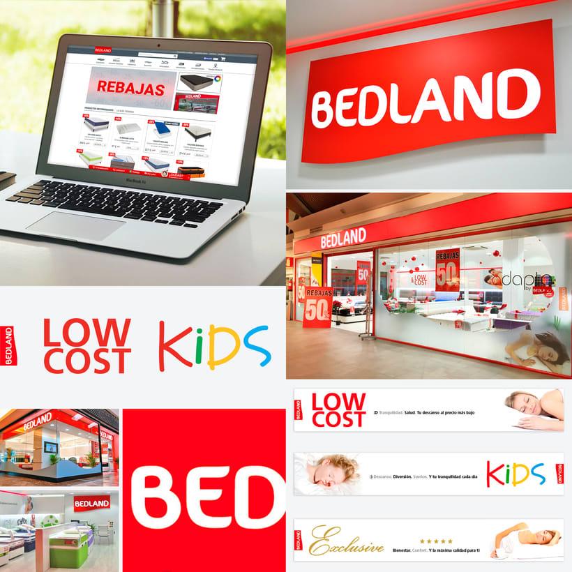 Rediseño de Imagen para Cadena de descanso Bedland 0