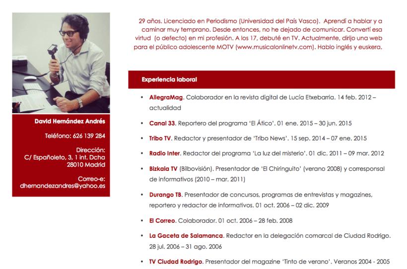 CV David Hernández 0